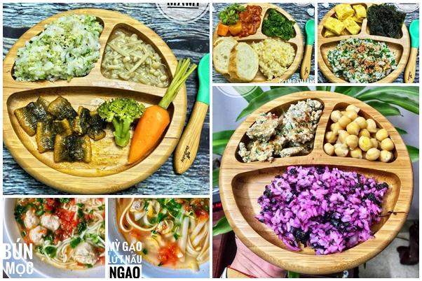Những món ăn của ku Min được mẹ chuẩn bị luôn đầy màu sắc