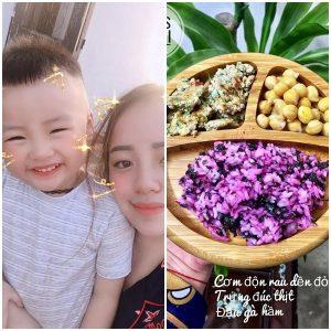 thực đơn dinh dưỡng đa dạng, đầy màu sắc mà mẹ Loan dành cho ku Min