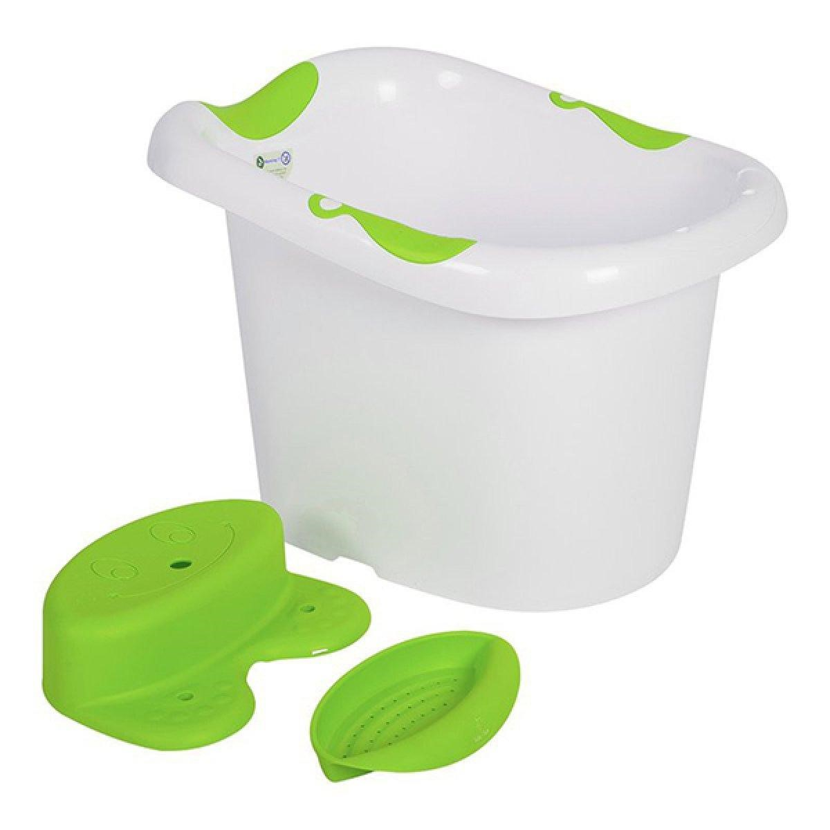 Kiểu chậu tắm cao sẽ giúp cho mẹ sinh mổ thuận tiện hơn trong quá trình tắm bé