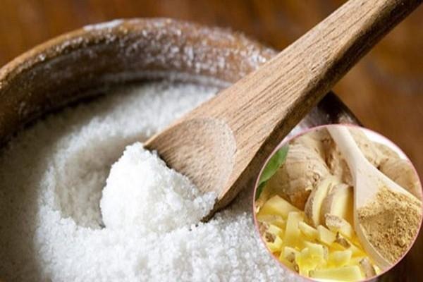 Muối và gừng là những nguyên liệu rẻ tiền nhưng có hiệu quả giảm mỡ bụng nhanh.
