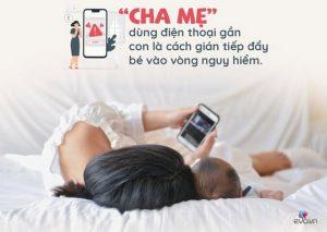 mẹ sau sinh có nên dùng điện thoại